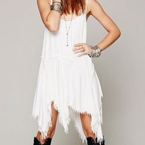 •Free People• Tattered Slip Dress